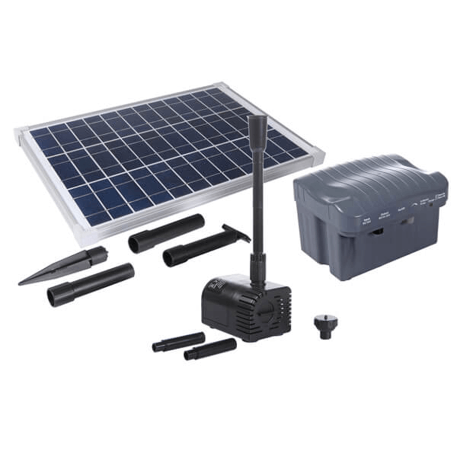 משאבות מים סולאריות עם פאנל סולארי ובית סוללה
